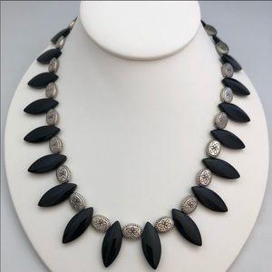 Black/silver necklace NWT